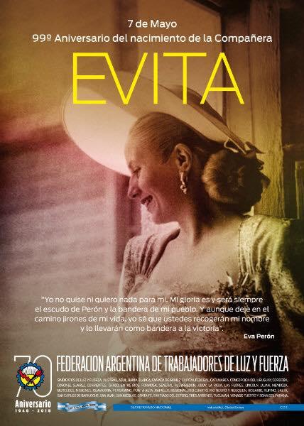 7 de Mayo – Eva Perón